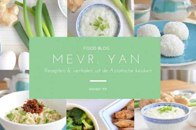 Welkom op food blog Mevr. Yan!
