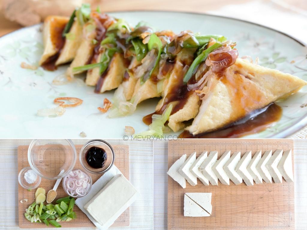 Gebakken tofu met oestersaus (c)