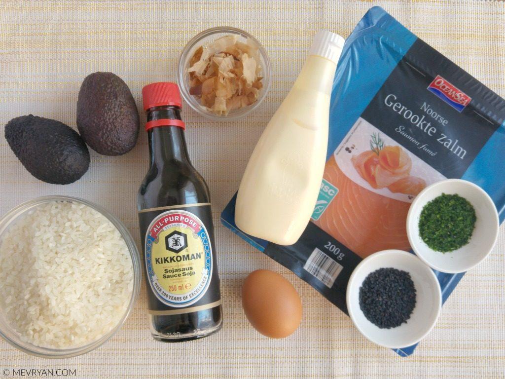 Recept met sushirijst_ingrediënten (c)