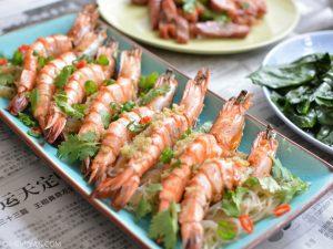 Gestoomde garnalen met knoflook (c) mevryan.com, Aziatische recepten