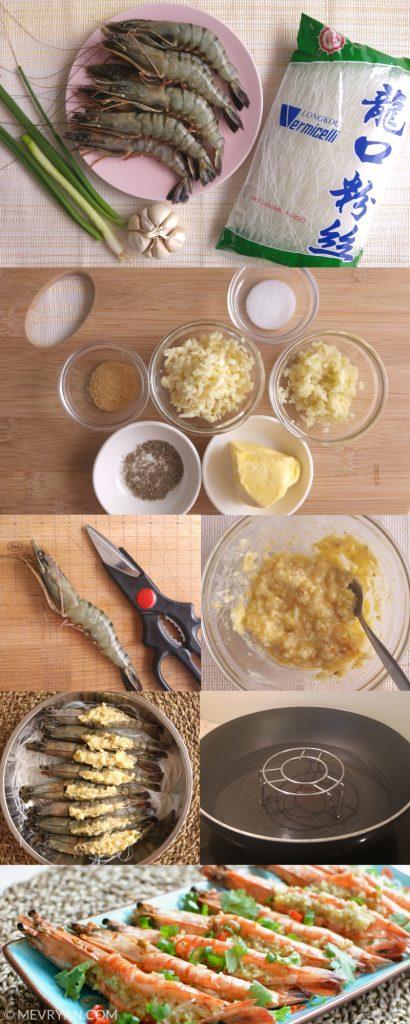 Instructie bereiding gestoomde garnalen met knoflook