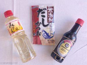Oyakodon bouillon ingrediënten