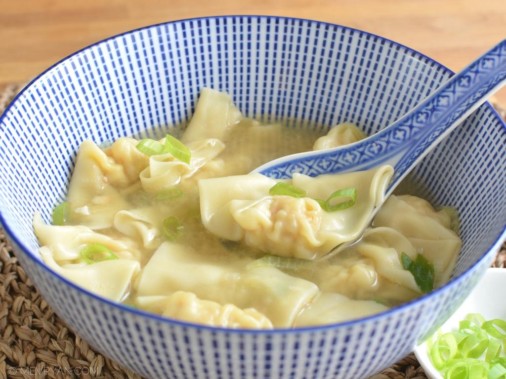 Foto Chinese wonton soep (c) mevryan.com, Aziatische recepten
