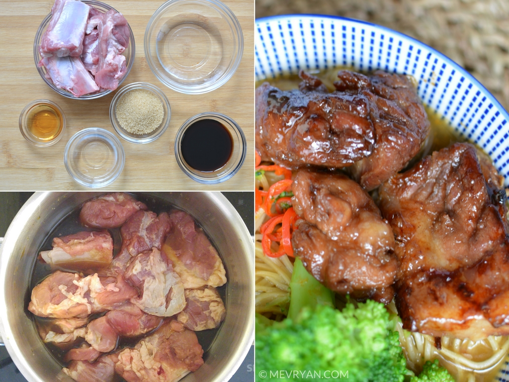 Foto instructie recept zoetzure spareribs (Tel 5 Ribs)