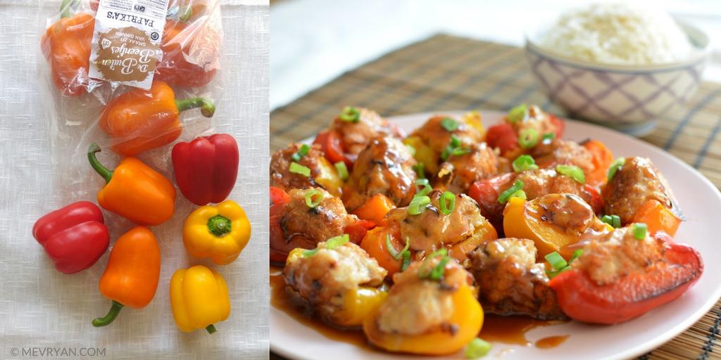 Foto gekleurde paprika's