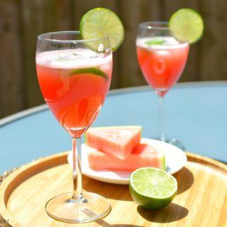 Foto watermeloen limoen limonade