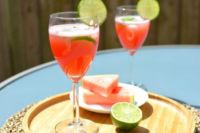 Verse watermeloen limoen sap