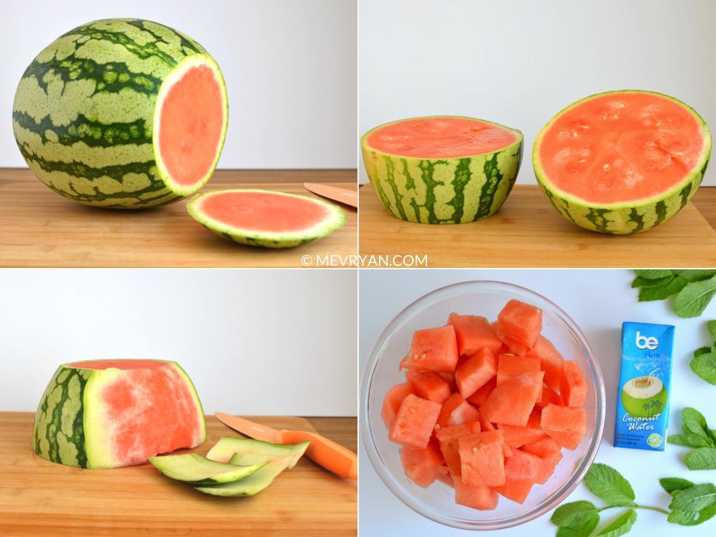 Instructie watermeloen limoen sap