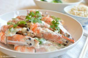 Foto garnalen in kokosmelk © MEVRYAN.COM, Aziatische recepten