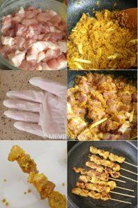 Foto bereiding van saté - Food blog © MEVRYAN.COM, Aziatisch koken