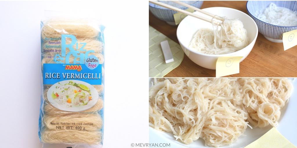 Foto rijst vermicelli van het merk Mama - Food blog © MEVRYAN.COM