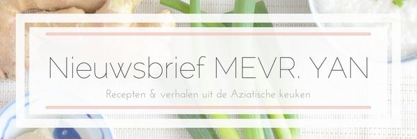 Gratis nieuwsbrief van Food blog Mevryan.com © MEVRYAN.COM