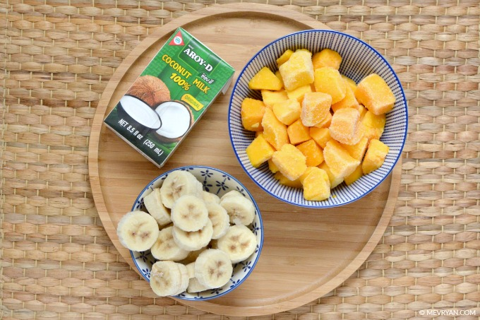 Foto ingrediënten Mango ijs. Food blog © MEVRYAN.COM