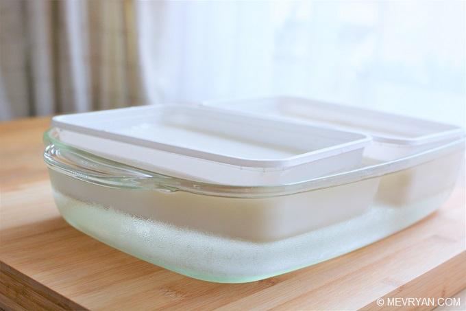 Foto Chinese kokospudding, kooktip afkoelen © MEVRYAN.COM, Aziatisch koken