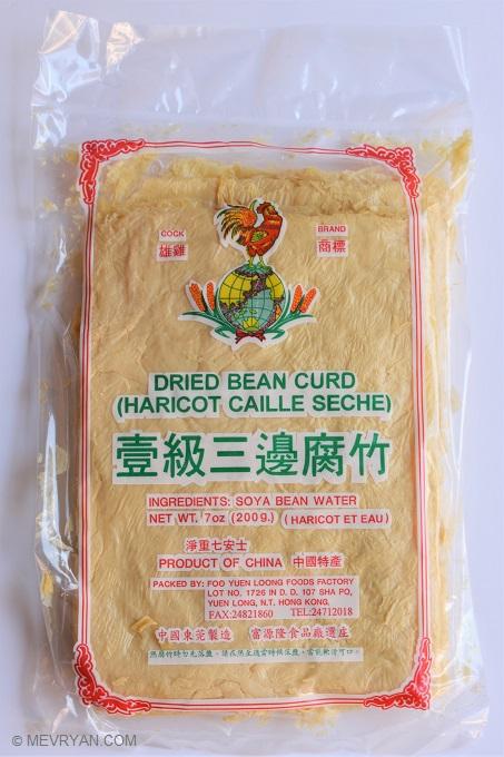 Foto Gedroogde tofu vellen / Dried Bean curd. © MEVRYAN.COM